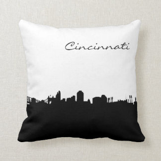 City of Cincinnati Ohio Skyline Landmark Pillow