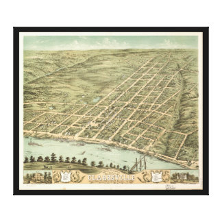 City of Clarksville Tennessee (1870) Canvas Print