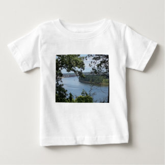 City of Dubuque, Iowa on the Mississippi River Baby T-Shirt
