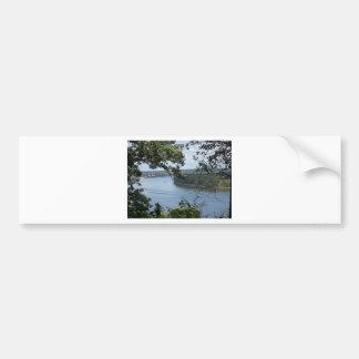 City of Dubuque, Iowa on the Mississippi River Bumper Sticker