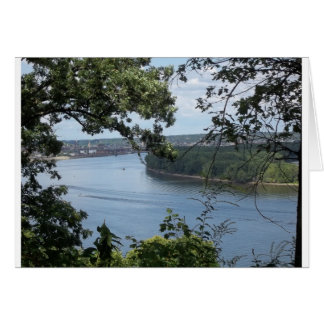 City of Dubuque, Iowa on the Mississippi River Card