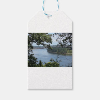 City of Dubuque, Iowa on the Mississippi River Gift Tags