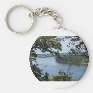 City of Dubuque, Iowa on the Mississippi River Keychain
