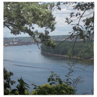 City of Dubuque, Iowa on the Mississippi River Napkin