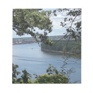 City of Dubuque, Iowa on the Mississippi River Notepad