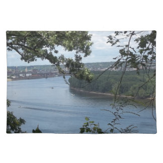 City of Dubuque, Iowa on the Mississippi River Placemat