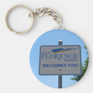 City of Florence Welcomes You! Keyring Basic Round Button Keychain