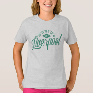 City of Liverpool Coordinates Tee Shirt