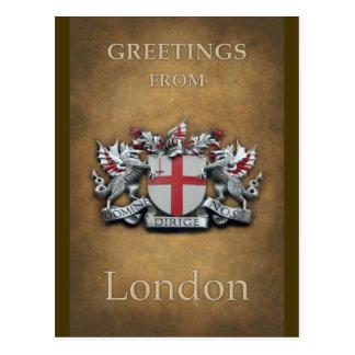 City of London Arms Greetings Postcard