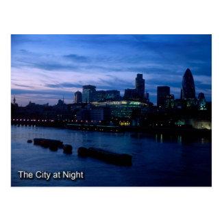 City of London at night postcard