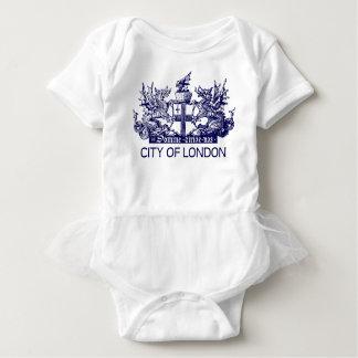 City of London, Vintage, Coat of Arms, England UK Baby Bodysuit