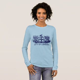 City of London, Vintage, Coat of Arms, England UK Long Sleeve T-Shirt