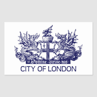 City of London, Vintage, Coat of Arms, England UK Sticker