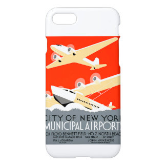 City of New York Municipal Airports Vintage iPhone 7 Case