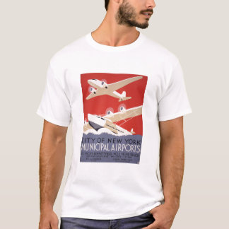 City of New York Municipal Airports - WPA Poster T-Shirt