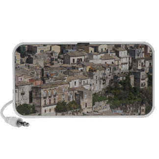 City of old buildings on hillside iPod speakers