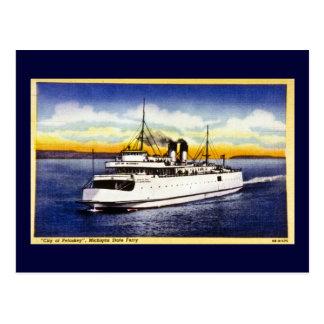 City of Petoskey, Michigan State Ferry Postcard