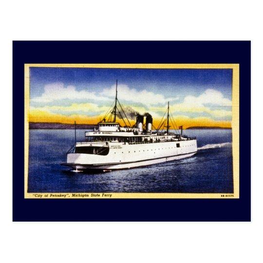 City of Petoskey, Michigan State Ferry Postcard