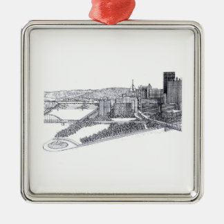 City of Pittsburgh Pen & Ink Ornament