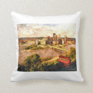 City of Pittsburgh Throw Pillow