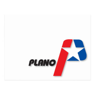 City of Plano flag Postcard