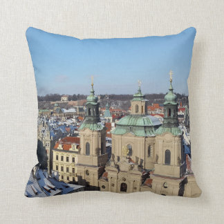City of Prague and the Baroque Church St. Nicholas Throw Pillow
