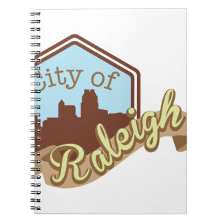 City Of Raleigh Spiral Note Book