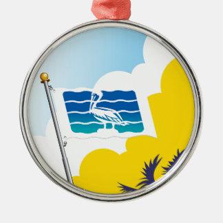 City of Saint Petersburg Florida Flag Metal Ornament