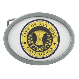 City of San Jose seal Oval Belt Buckle
