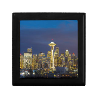 City of Seattle during Evening Blue Hour Panorama Gift Box