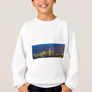 City of Seattle during Evening Blue Hour Panorama Sweatshirt