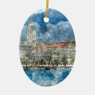 City of Split in Croatia Ceramic Ornament