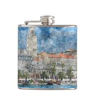 City of Split in Croatia Flask