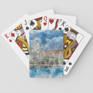 City of Split in Croatia Playing Cards