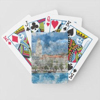City of Split in Croatia Poker Deck
