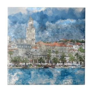 City of Split in Croatia Tiles