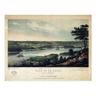 City of St. Paul, Capital of Minnesota (1853) Postcard