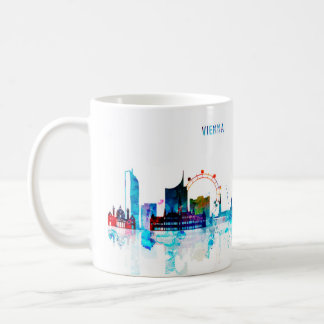 City of Vienna, Austria, watercolor, landscape, si Coffee Mug