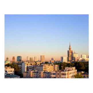 City of Warsaw in Poland Postcard