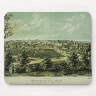 City of Waukesha Wisconsin from 1857 Mousepads