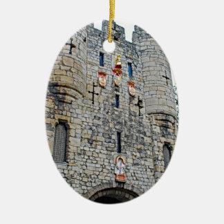 City of York Micklegate Bar Ceramic Oval Ornament