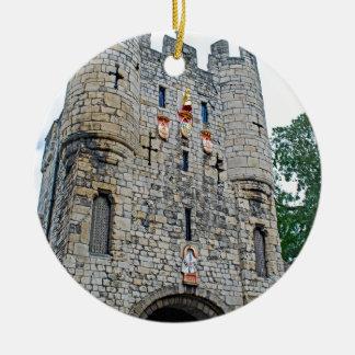City of York Micklegate Bar Round Ceramic Ornament