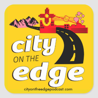 City on the Edge stickers! Square Sticker
