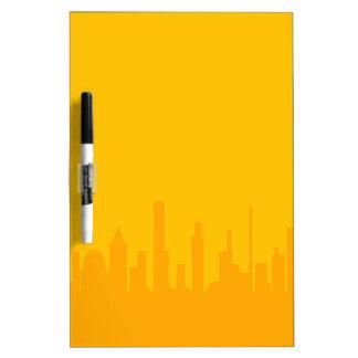 City Orangescape Dry Erase Board