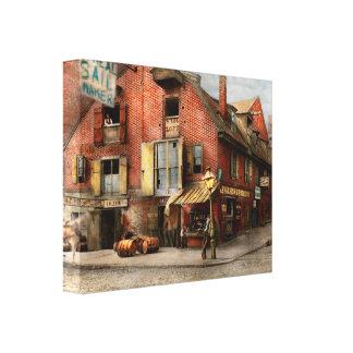 City - PA - Fish & Provisions 1898 Canvas Print