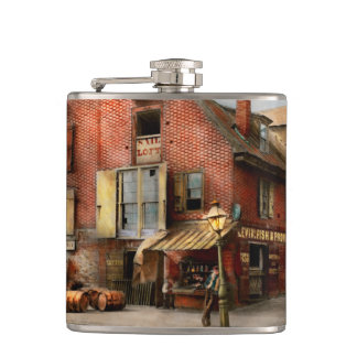 City - PA - Fish & Provisions 1898 Hip Flask