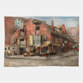 City - PA - Fish & Provisions 1898 Kitchen Towel