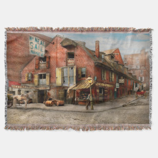 City - PA - Fish & Provisions 1898 Throw Blanket