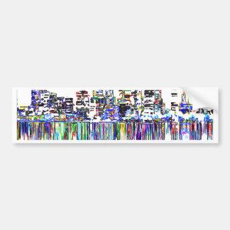 City panorama bumper sticker