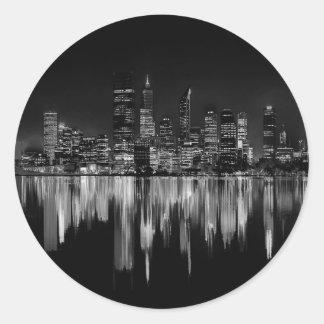 City panorama classic round sticker